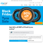 50% off RRP Pirelli Tyres Online @ Mycar Tyre & Auto (Formerly Kmart Tyre & Auto)