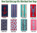 Renee Taylor 100% Cotton Jacquard Velour Extra Large Beach Towels 100x 180cm $33.57 Delivered @ LuxeBedding eBay