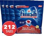 4x 53pk Finish Powerball All in 1 Max Dishwashing Tabs $53.49 ($48.14 with eBay Plus) Delivered @ Sonalestore eBay