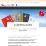 Qantas: Double Status Credits on Domestic Flights @ Qantas.com