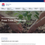 [NSW] Free Tree Giveaway (Greater Sydney Region) @ Planning Portal - Department of Planning, Industry and Environment