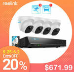 [eBay Plus] Reolink 4K H.265 Smart Person/Vehicle Detection System 2TB HDD RLK8-820D4-A $671.99 Shipped @ reolink-security eBay