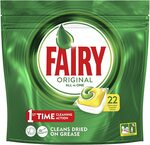 Fairy Original All in One Dishwasher 110 Tablets $25.18 S&S ($0.23ea) + Delivery ($0 with Prime/ $39 Spend) @ Amazon AU