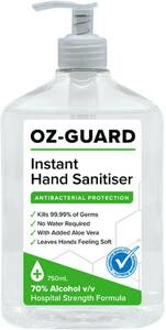 Ozguard Hand Sanitiser 750ml  $2 (Was $15) @ Woolworths (In-Store Only)