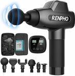 RENPHO Massage Gun, Muscle Massager, Powerful Percussion Massager Handheld - $123.99 Delivered @ Renpho via Amazon AU