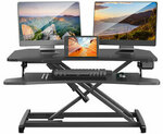 BlitzWolf BW-ESD2 Electric Powered Standing Desk US$105.99 (A$146.16), BW-MS2 Monitor Stand US$32.17 Shipped @ Banggood AU