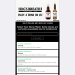 Free Jim Beam or Canadian Club with $50 Spend @ Hogs Breath Restaurants