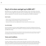 [Klarna] Pay in 4 in-Store and Get up to $50 off @ Klarna