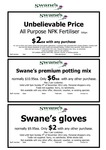 [NSW] Swanes - $2 gloves; $2 All purpose NPK Fertilizer; $6 potting mix ; - with any purchase