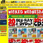 JB Hi-Fi Wicked Wednesday - Instore and Online until 9PM Wednesday