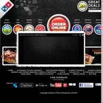 Domino's 2 Traditional/Chef's Best/Value Pizzas + Garlic Bread + 1.25LCoke $25 Delivered