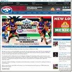 Free AFL Ticket: Western Bulldogs VS Essendon Bombers (14/7)