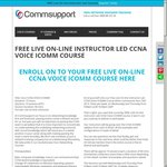 Free Live on-Line CCNA VOICE ICOMM Course