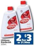 Lifebuoy Handwash 2x500ml for $3 at Crazy Clark