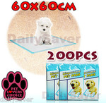 200pcs 60x60cm Puppy Pet Dog Cat Training Pads Super Absorbent Wee LooToliet $45 Free Shipping!