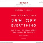 Country Road & Trenery Outlet - 25% off Online Prices