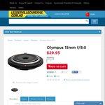 Olympus 15mm Body Cap Lens in Store Pickup $29.95 or Aust Wide Del $39.95 PERTH