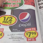 Pepsi Cans 24 Pack $7.99 (34cents Each) @ IGA WA