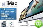 """Apple 21.5"""" iMac All-in-One Ex-Leased Desktop with Genuine K & M Only $699.98 + $19.98 @Ozstock"""