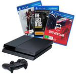 PlayStation 4 Console + 3 Games (DriveClub, TLOUR, Bloodborne) - $529 Delivered or Click+Collect @ Target