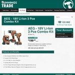 Bunnings AEG 18V 3 Pce Kit for Trade Members at $199