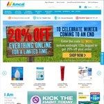 20% off Storewide @ Amcal (Free Shipping over $60)
