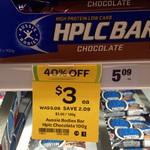 HPLC Aussie Bodies Protein Bar 100g $3 Woolworths