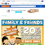 Toys R Us - 20% off Full Priced Items