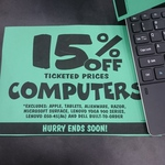 15% off Computers at JB Hi-Fi (Some Exclusions)
