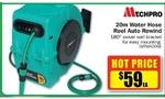 Mechpro 20m Water Hose Reel Auto Rewind - $59 @ Repco
