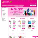 Priceline 40% off Skincare, Suncare and Tanning 27th-28th Jan