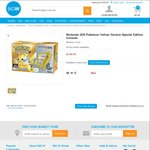 Nintendo 2DS Console Pokemon Special Edition Yellow/Red/Blue $149 each @ BIG W in Store Only