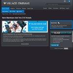 Village Cinemas - New VMC Member Get 2x$10 Tix