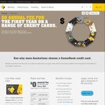 Any Commonwealth Bank Credit Card: $0 Annual Fee for 1st Year (Incl. Diamond, Platinum, etc)