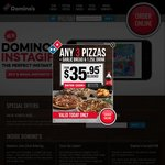 3 Traditional Pizzas for $21.95 Pickup - Domino's Pizza - Selected Stores Only