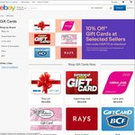 eBay 10% off Selected In-Store Gift Cards (Bing Lee, SuperCheapAuto, Ray's, BCF, PoK, Lorna Jane)