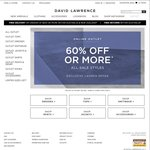 60% or More off @ David Lawrence Online Outlet (Free Ship $100+ Spend)