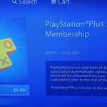 PlayStation Plus Subscription $1.40 for One Month
