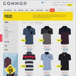 20% off Storewide (Polo Shirts $7.99ea Click and Collect) @ Connor Clothing