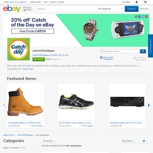 more photos a013d fa886 20% off @ Catch of the Day - eBay Store - OzBargain
