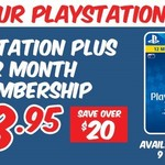 $48.95 for 12 Months PS Plus Membership @ EB Games (In-Store)