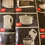 $7.49 Kettles Toasters and Sandwich Machines, Stirling Dishwasher $299 @ ALDI