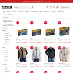 Myer Fri & Super WKND Deals: 25% off LEGO, 40% off Range of Mens Jackets & Knits, 50% off Range of Frypans & Woks + More