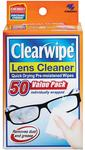 Clearwipes Lens Cleaner 50 Pack $4.99 at Chemist Warehouse