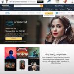 Amazon Music Unlimited - 3 Months for US$0.99 (AU$1.35) Then US $9.99 (AU $13.45) Per Month