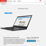 "ThinkPad T470s i5-7200U/14""IPS FHD/8GB/256GB NVMe from $1239.10 (customisable)($1089.10 w/ Amex); X1 Carbon from $1469.10"