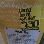 Cricket Cooler $30 Was $59 Bunnings Warehouse Kingston Tas