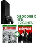 Xbox One X 1TB + The Evil Within + Wolfenstein II - $649 @ EB Games