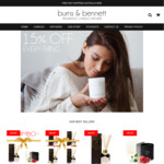 40% off Candles and Diffusers @ Burns and Bennett - Free Gift Wrap - Free Shipping