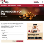 24 Nuggets for $10 + Strawberry Popping Candy Krusher $2 (2-5pm Happy Hour) @ KFC